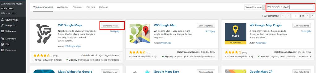 Wtyczka google maps