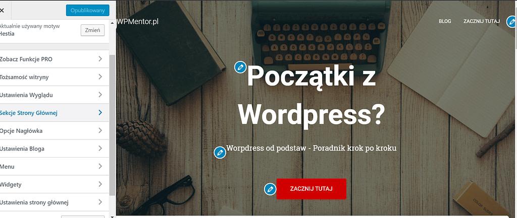 Edycja motywu wordpress