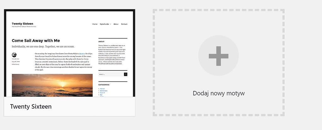 Zmiana motywu WordPress