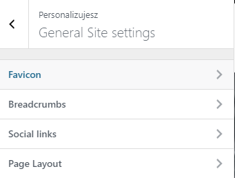 general site settings