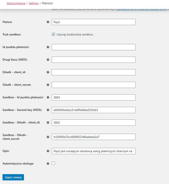 Wpisz klucz API