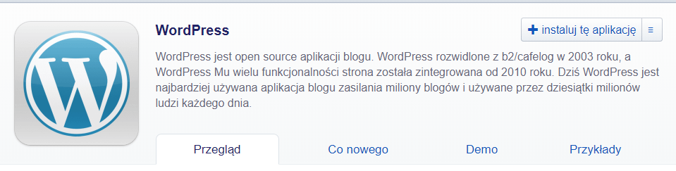zainstaluj wordpress