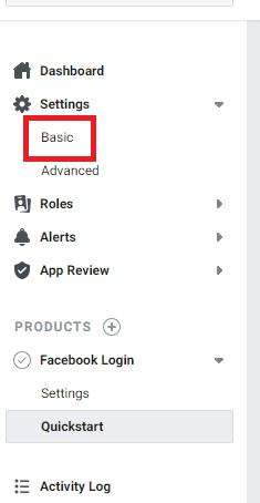 Konfiguracja aplikacji logowania FB
